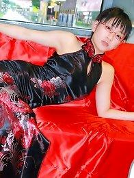 Ami Tokito Asian can be sexy devil and Santa girl the same day