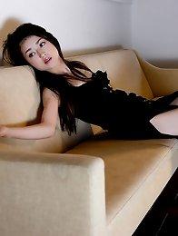 Maju Ozawa Asian shows sexy legs in elegant different dresses