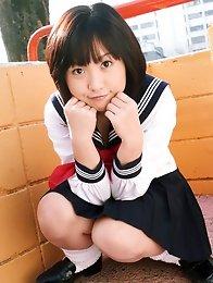 Jun Ishizaki Asian is sexy and playful in sailor girl uniform