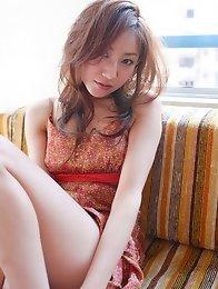 Incredible foxy gravure idol babe in a cute short dress