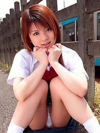 Very beauty and sexy japanese chix Risa Tsukino in school uniform