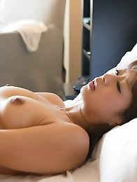 Lovely and sexy Japanese av idol Mamika arches her back while having sex