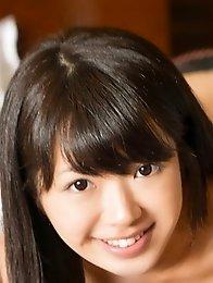 Lovely and sexy Japanese av idol Mayuka Momota shows her blowjob skills