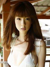 Adorable idol Aki Hoshino looks incredible in her red bikini