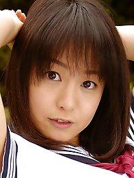 Sexy japan teen Nana Nanaumi in school uniform showing nice tits
