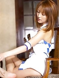 Sexy beautiful japanese girl Kaede Matsushima with hairy pussy