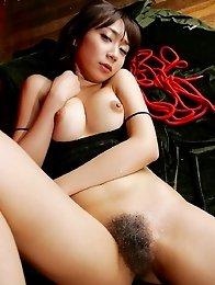 Perfect japanese Ryo Akanishi with big tita ana hairy pussy